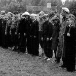 Коля Головчинер: Коля пятый в первом ряду. Лагерь 46 школы, 1957г.