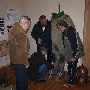 А.Н. Костин в Музее Ледового побоища. Самолва
